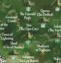 Warhammer Itza Lustrian Map