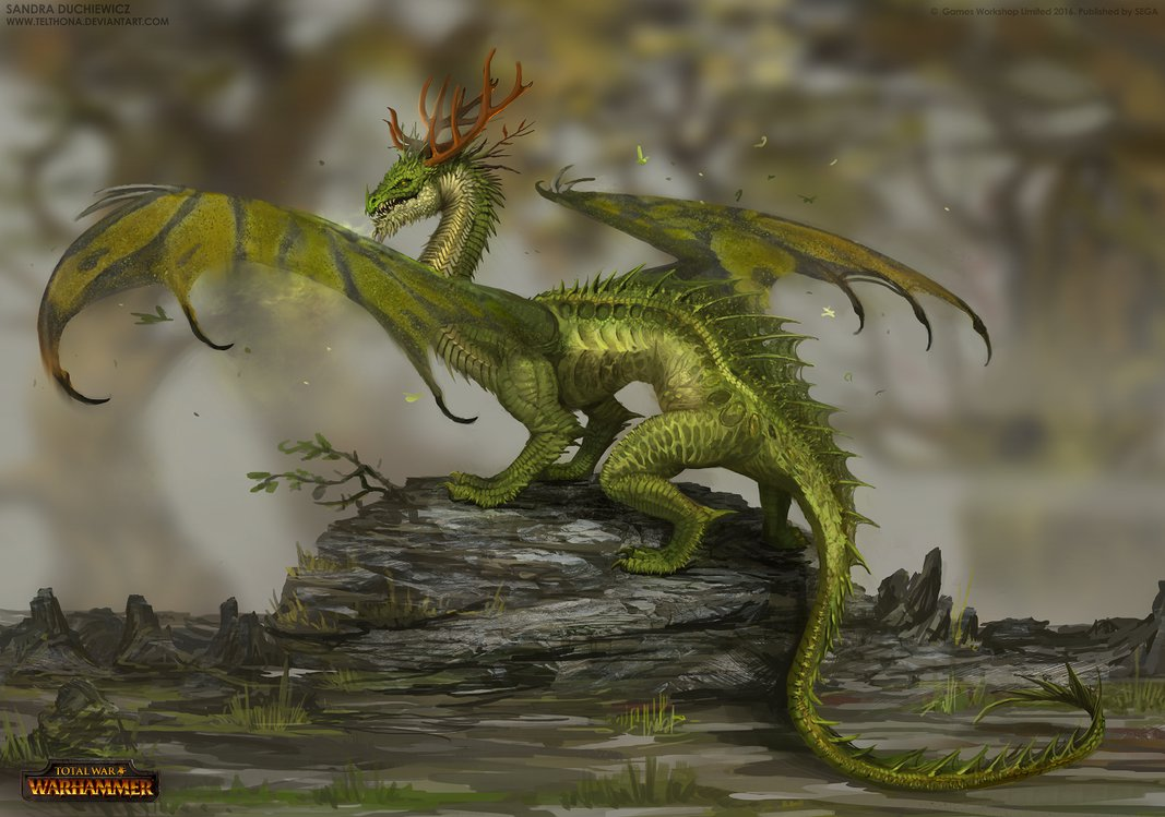 image forest dragon concept art total war 2 jpg warhammer wiki