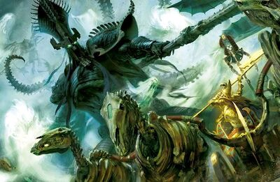 Warhammer Settra vs Nagash
