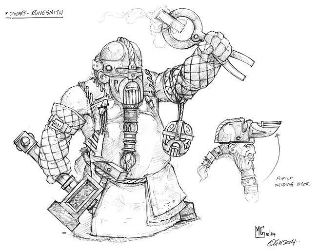 skaven clanrats coloring pages | Image - Runesmith Dwarf Concept Art Mark Gibbons 2004.jpg ...