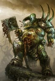 Warhammer Champion of Nurgle