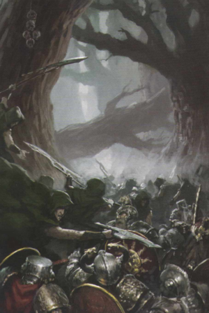 Warhammer Wood Elves vs Dwarfs