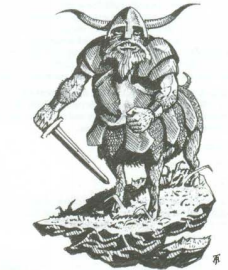 Boar Centaur Chaos Dwarfs Tony Auckland 3rd Edition Black&White Illustration