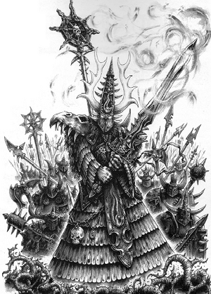 Aekold Helbrass Chaos 5th Edition illustration