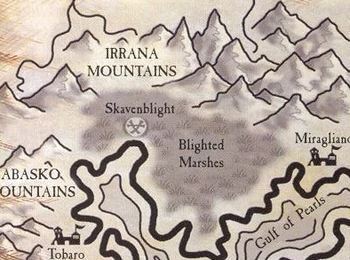 Blighted Marshes Map