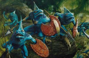 Warhammer Lizardmen Skinks Art