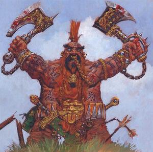 Garagrim Ironfist Dwarfs Storm of Chaos Adrian Smith illustration