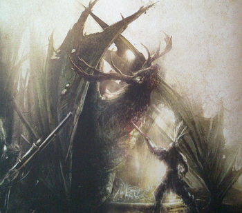 Preyton battle Chaos Monstrous Arcanum illustration