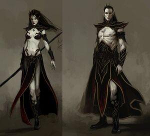 Warhammer Dark Elves Biology