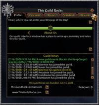 UI guild profile tab