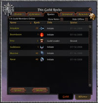 UI guild roster tab