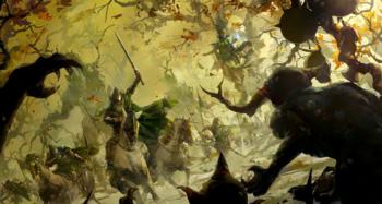 Warhammer Wood Elves Wild Hunt Art