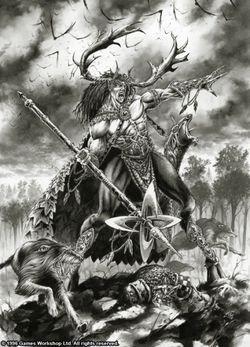 Warhammer Wood Elves Orion art