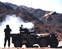 TOW missile being launched