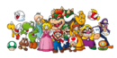Mario characters group artwork