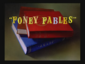 Foney Fables Title Card