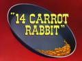 14 Carrot Rabbit Title Card
