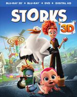 Storks blu ray 3d cover