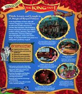 The king and I game cover back