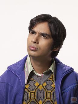 Raj staring into space