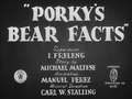 Porky's Bear Facts
