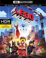 Lego movie 4k blu ray cover