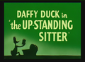 The Up-Standing Sitter Title Card