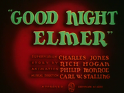Good Night Elmer