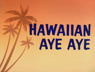 Hawaiian Aye Aye Title Card