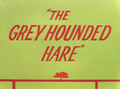 The Grey Hounded Hare Title Card