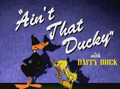 Ain't That Ducky Title Card