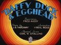 Daffy Duck and Egghead Title Card
