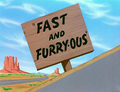 Fast and Furry-Ous Title Card
