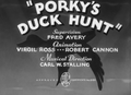 Porky's Duck Hunt Title Card