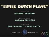 Little Dutch Plate