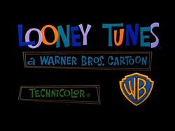 Looney tunes card with wb logo 1964