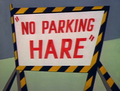 No Parking Hare Title Card