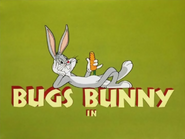 Hare Brush Bugs Bunny intro
