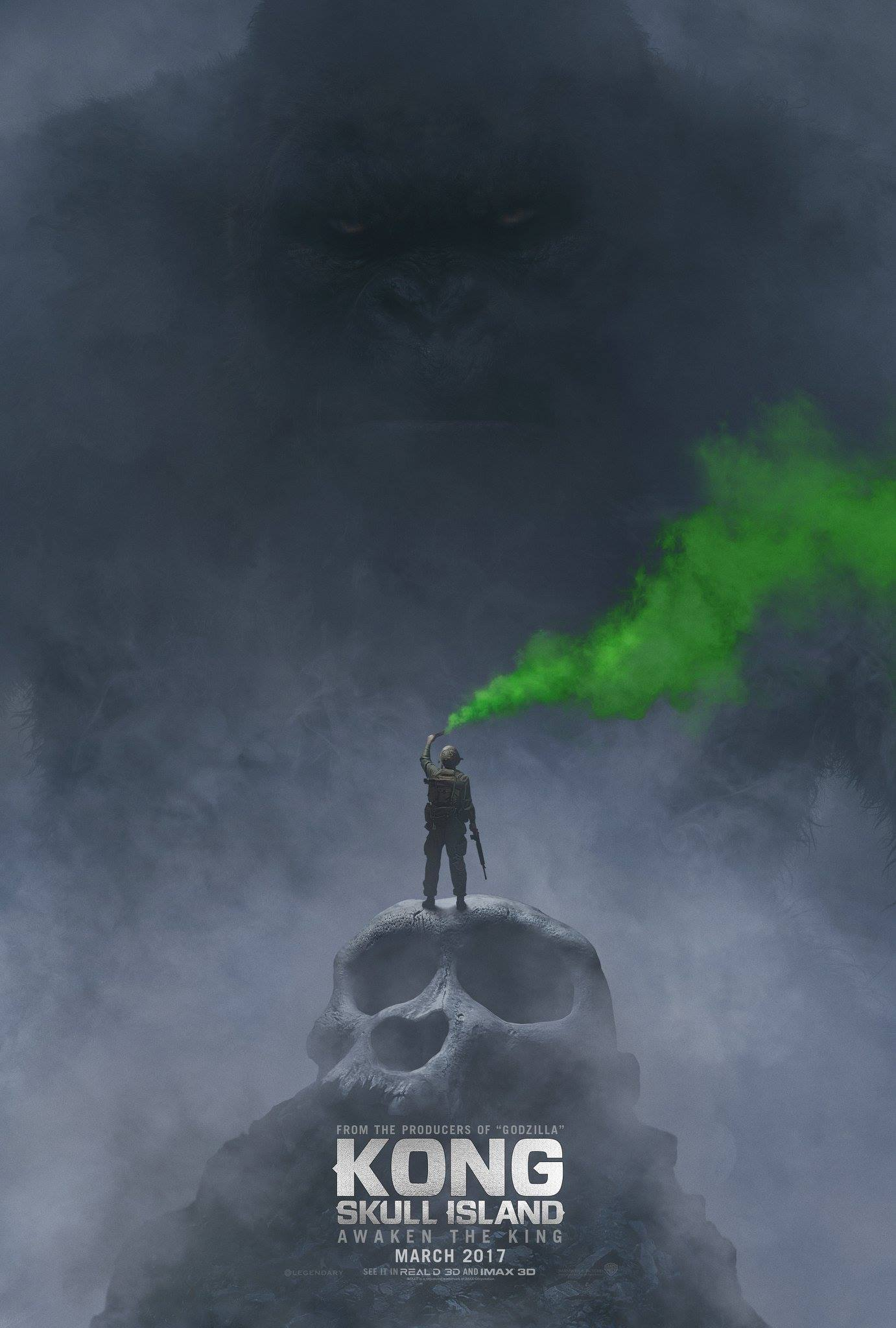 "Kong Skull Island Movie King Kong Japanese Poster Art Print 13×20/"" 27×40/"" 32×48/"""