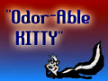 Odor-able Kitty Title Card