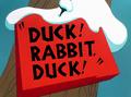 Duck! Rabbit, Duck! Title Card