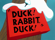 Duck! Rabbit, Duck! Title Card