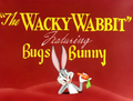 The Wacky Wabbit Title Card