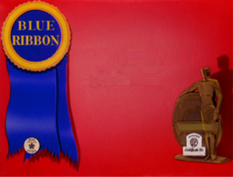 Blue ribbon card empty