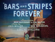 The title card of Bars and Stripes Forever, circa 1939