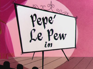 Past Perfumance Pepe Le Pew Intro