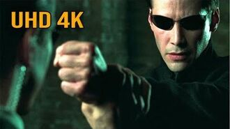 """The Matrix Reloaded - """"Neo vs the Agents Upgrades Only Human"""" (4K UHD 2160p)"""