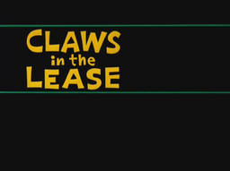 Claws in the Lease Title Card