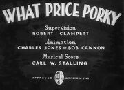 What Price Porky Title Card