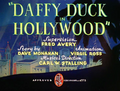 Daffy Duck in Hollywood Title Card